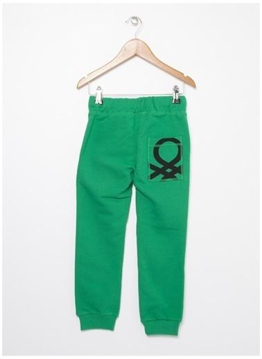 Benetton Benetton Logolu Yeşil Erkek Çocuk Eşofman Altı Yeşil